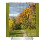 Walking Through Autumn Shower Curtain