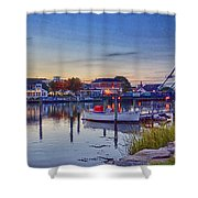 Walking To Town Shower Curtain