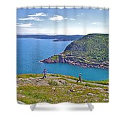 Walking Trails Everywhere In Signal Hill National Historic Site In St. John's-nl  Shower Curtain