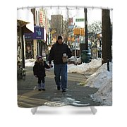 Walking With Dad Shower Curtain