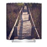 Walkway Through The Reeds Appalachian Trail Shower Curtain by Edward Fielding