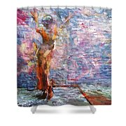 Wall Arted Shower Curtain