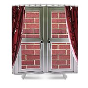 Wall Build Close To A Closed Window Shower Curtain
