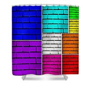 Wall Color Wall Shower Curtain by Semmick Photo