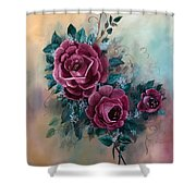 Wall Corsage Shower Curtain