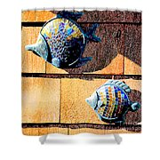 Wall Fish Shower Curtain