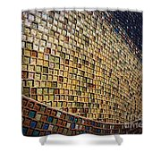 Wall No.22 Color Version Shower Curtain