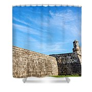 Wall Of Cartagena Colombia Shower Curtain
