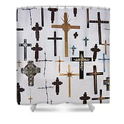Wall Of Crosses Shower Curtain