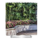 Wall Of Flowers Shower Curtain