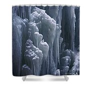 wall of ice in Partnach gorge 3 Shower Curtain