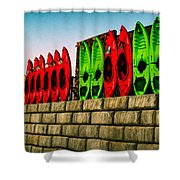 Wall Of Kayaks Shower Curtain