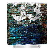 Wall Of Knowlogy Abstract Art Shower Curtain