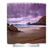 Wall Of Rocks Shower Curtain