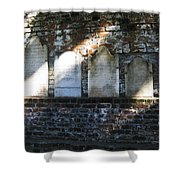 Wall Of Tombstones Knocked Down During Civil War Shower Curtain