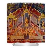 Wall Painting 2 At Wat Suthat In Bangkok-thailand Shower Curtain