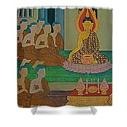 Wall Painting 3 In Wat Po In Bangkok-thailand Shower Curtain