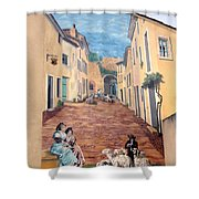 Wall Painting In Provence Shower Curtain