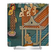 Wall Painting In Wat Po In Bangkok-thailand Shower Curtain