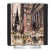 New York Wall Street - Fine Art Shower Curtain
