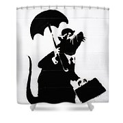 Wall Street  Shower Curtain