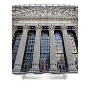 Wall Street New York Stock Exchange Nyse  Shower Curtain