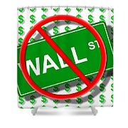Wall Street No Shower Curtain