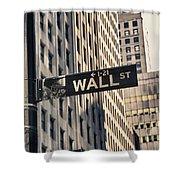 Wall Street Sign Shower Curtain