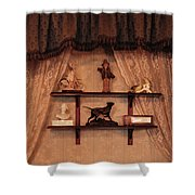 Wall Vintage Figures Shower Curtain