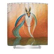 Wallaby Spirit Shower Curtain