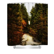 Wallace Fall North Fork Shower Curtain