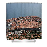 Walled City Of Dubrovnik Shower Curtain