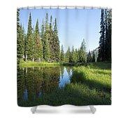 Wallowas - No. 3 Shower Curtain
