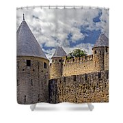 Walls Of Carcassonne Shower Curtain