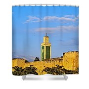 Walls Of Meknes In Morocco Shower Curtain