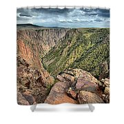 Walls Of The Black Canyon Shower Curtain