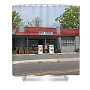 Wallys Service Station Mayberry Shower Curtain