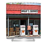 Wally's Service Station Mayberry Nc Shower Curtain