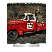 Wally's Towing Shower Curtain by David Arment