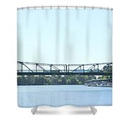 Walnut Grove Bridge Mural Shower Curtain