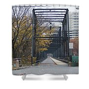 Walnut Street Bridge Looking At Harrisburg Shower Curtain