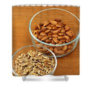 Walnuts And Almonds Shower Curtain