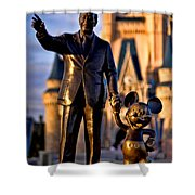Walt And Mickey Shower Curtain