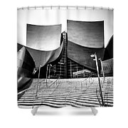 Walt Disney Concert Hall In Black And White Shower Curtain