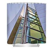 Walt Disney Concert Hall Vertical Exterior Building Frank Gehry Architect 6 Shower Curtain