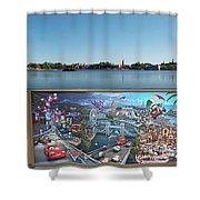 Walt Disney World Cars 2 Digital Art Composite 02 Shower Curtain
