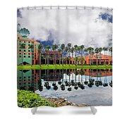 Walt Disney World Swan Hotel  Shower Curtain