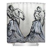 Waltzing With You Shower Curtain