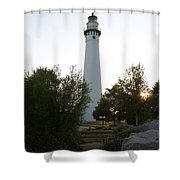 Wander To Wind Point Shower Curtain