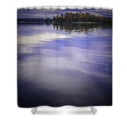 Wanigan View Of Au Sable River Shower Curtain